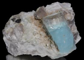 Aquamarine in matrix