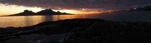 Landegode sunset from Skivika - Panorama
