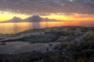 Landegode sunset from Skivika