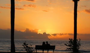 Love in sunset