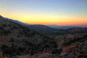 Sunset over east Crete
