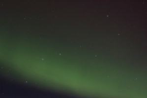 Big Dipper in middle of Northern Lights