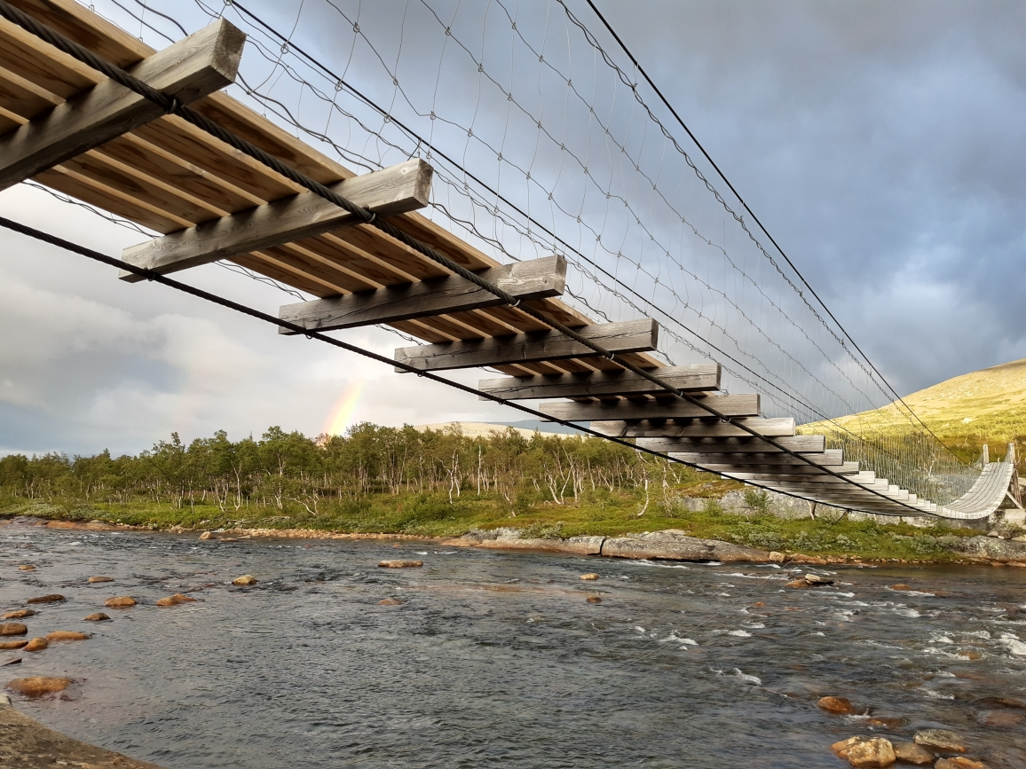 Bridge over Lønselva - Luonosjåhkå